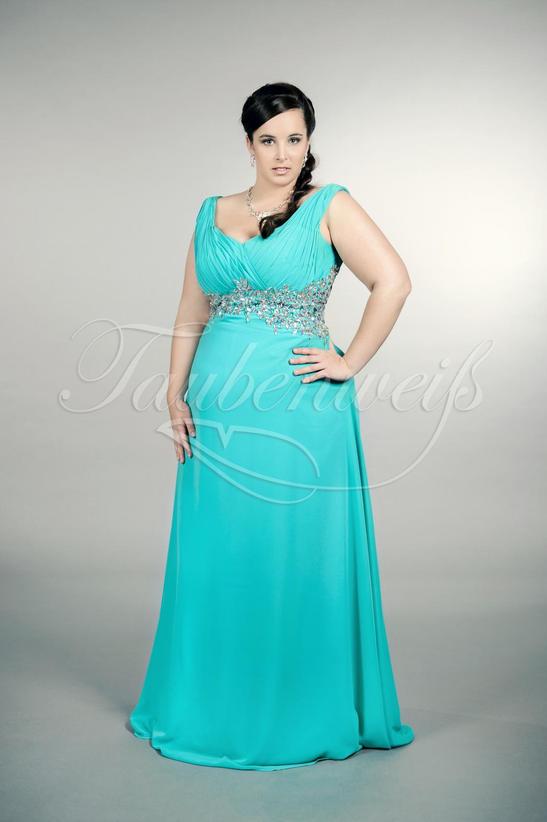 Abendkleid lang blau große größen